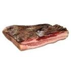 Poitrine de porc plate et séchée