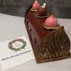Bûche chocolat-framboises (avec ou sans gluten)